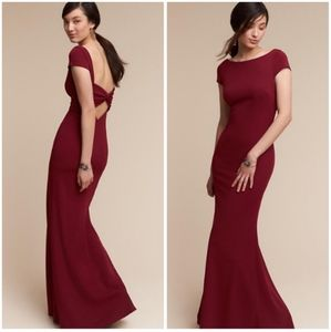 NEW BHLDN KATIE MAY Madison Bordeaux Maxi Gown